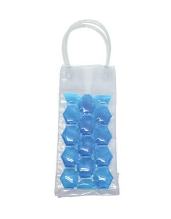 Cooler na butelki - niebieski