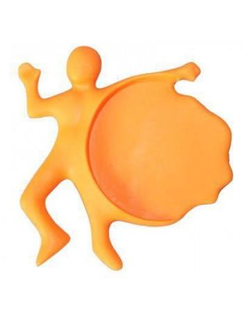 Płaski Zenek (podstawka pod szklanki) - pomarańczowy