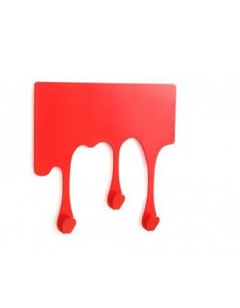 Designerski wieszak DROP - czerwony