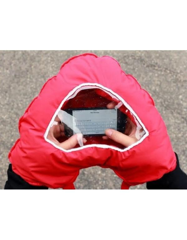 Zakochana rękawica z okienkiem na smartfona