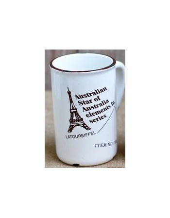 Porcelanowy kubek retro -...
