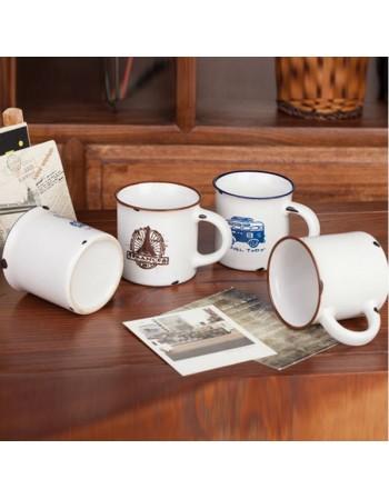 Porcelanowy MINI kubek retro - różne rodzaje
