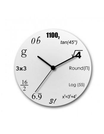 Zegar matematyka classic biały