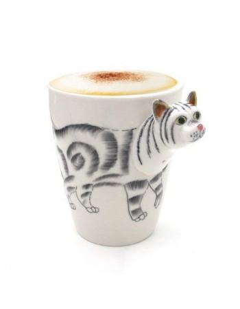 Kubek 3D zwierzęta - kot, pies, koń