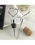 Zakochany zestaw do wina - korkociąg i zatyczka - CZARNY