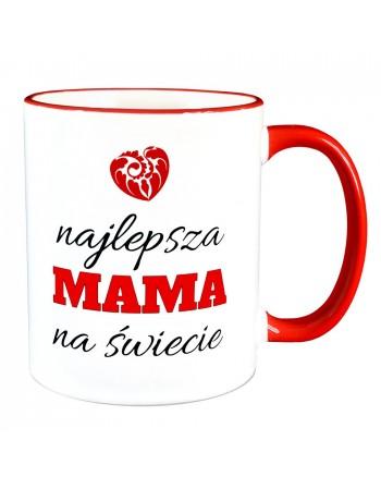 Kubek Najlepsza Mama na Świecie - CZERWONE UCHO