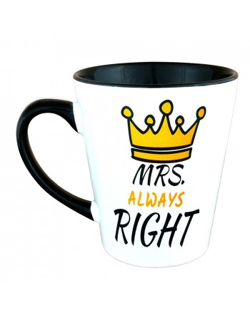 Kubek Latte MRS Always RIGHT - korona