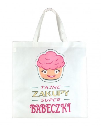 Torba Zakupowa EKO - Super Babeczka - różowa