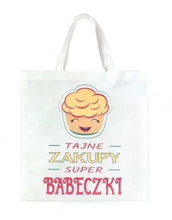 Torba Zakupowa EKO - Super Babeczka - pomarańczowa