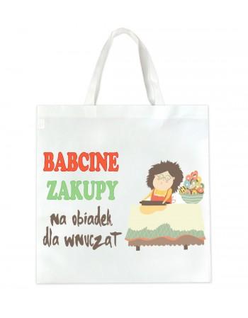 EKO Torba zakupowa Babcine Zakupy na obiadek dla wnucząt