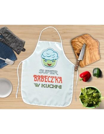 Fartuch Kuchenny Super Babeczka - niebieska