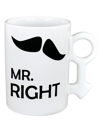 Podwójne kubki dla par - MRS i Mr Right