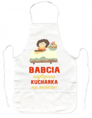 Gruby Fartuch Kuchenny - Babcia najlepsza kucharka na świecie!