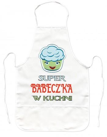 Gruby Fartuch Kuchenny - Super Babeczka - Niebieski