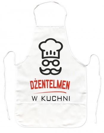 Gruby Fartuch Kuchenny - Dżentelmen w Kuchni