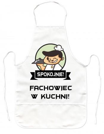 Gruby Fartuch Kuchenny - Spokojnie Fachowiec w Kuchni!