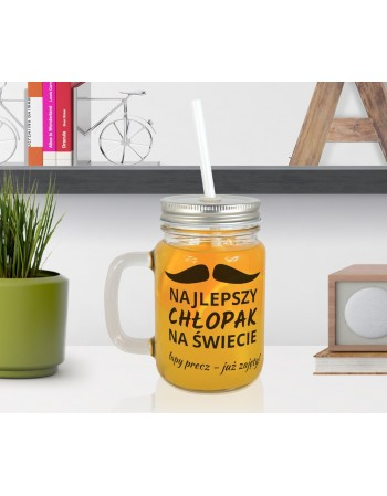 Słoiczek Mason Jar dla Chłopaka - Najlepszy na Świecie
