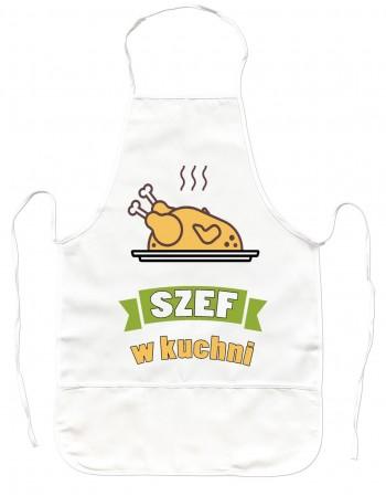 Gruby Fartuch Kuchenny Szef w Kuchni
