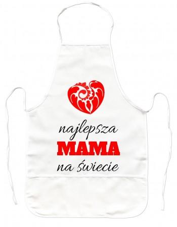 Gruby Fartuch Kuchenny Najlepsza Mama na Świecie