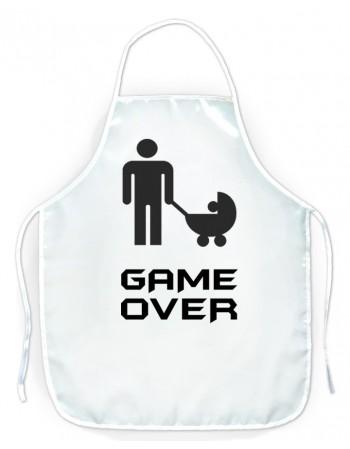Fartuszek kuchenny dla faceta - GAME OVER - Wózek