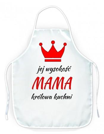 Fartuszek kuchenny dla Mamy - Jej Wysokość Mama
