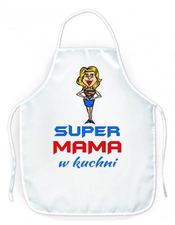 Fartuszek kuchenny prezent dla Mamy - Super Mama