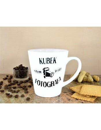 Kubek latte Fotografa - biały
