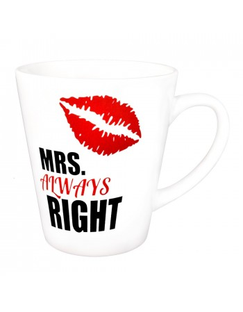 Kubek latte MRS Always RIGHT - biały - dla kobiety