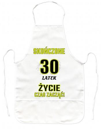 Fartuszek kuchenny prezent na 30 urodziny - 30 latek