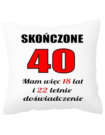 Poduszka prezentowa na 40 urodziny