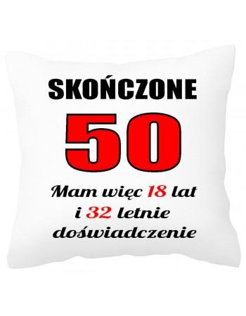 Poduszka prezentowa na 50 urodziny