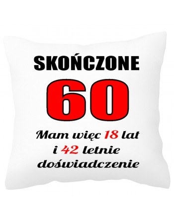 Poduszka prezentowa na 60 urodziny