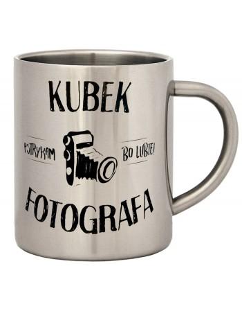 Kubek stalowy prezent dla Fotografa