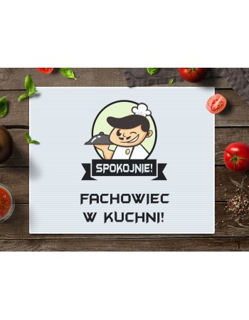 Deska do krojenia prezent dla Niego - Spokojnie Fachowiec w Kuchni!