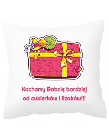 Słodka poduszka na prezent dla Babci