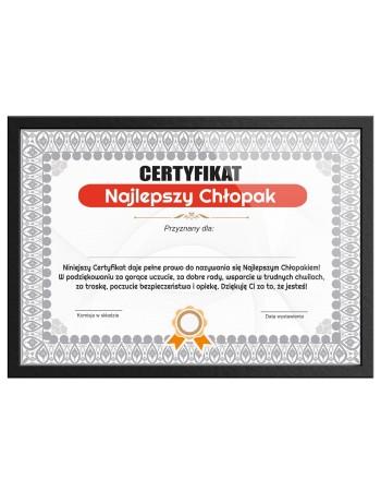 Certyfikat dla Chłopaka na prezent - Najlepszy Chłopak