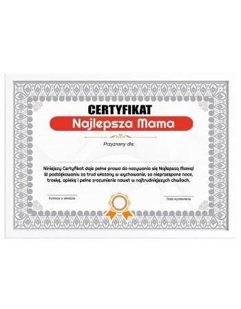Certyfikat dla Mamy na prezent Najlepsza Mama