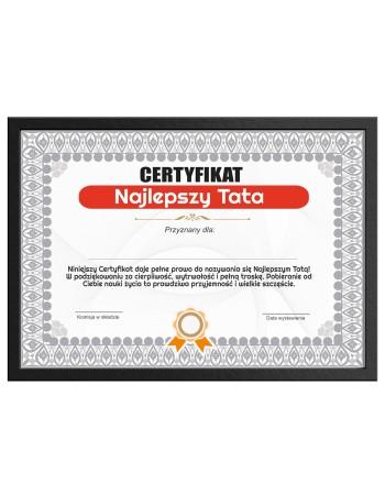 Certyfikat dla Taty na prezent Najlepszy Tata