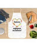 Fartuszek kuchenny dla Babci - kwiatuszki