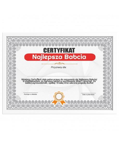 Certyfikat dla Babci na prezent
